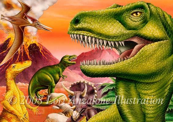 Lori anzalone illustration nature illustrator of volcano landscape